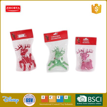 Colorful christmas lovely deer ,Christmas Decoration 3 styles 3 colors