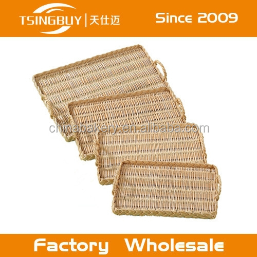Professional artisan handcraft 100% Natural wicker/rattan Irish soda bread display basket custom size