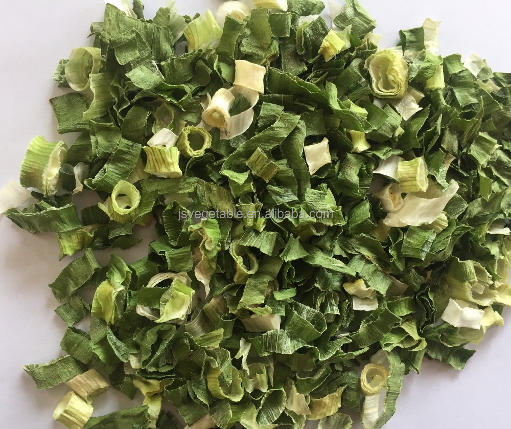 New crop Chinese dried spring green onion flakes and rolls