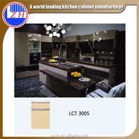 High gloss Asian kitchen design ready to go in stock wooden kitchen cabinets