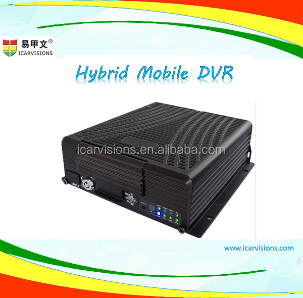 HD MDVR Hard disk Mobile NVR 4ch support 1080P IP Camera and AHD Camera
