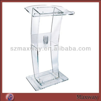 Elegant Plastic Organic Glass Church Pulpit Designs