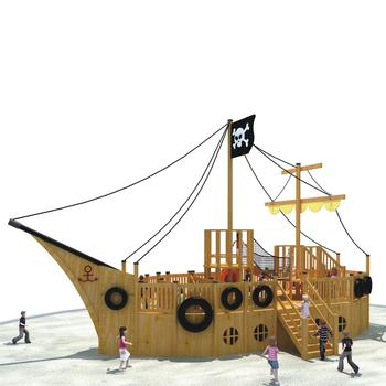 Kaiqi Commercial Large Pirate Ship Theme Kids Entertainment Outdoor Wooden Playground Equipment Buy Commercial Large Pirate Ship Outdoor