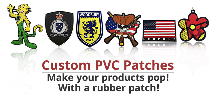 Newly trendy customize pvc rubber 3d embossed effect rubber patch