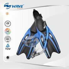 Wave set for swimming snorkel dive fins free diving mask snorkel fin