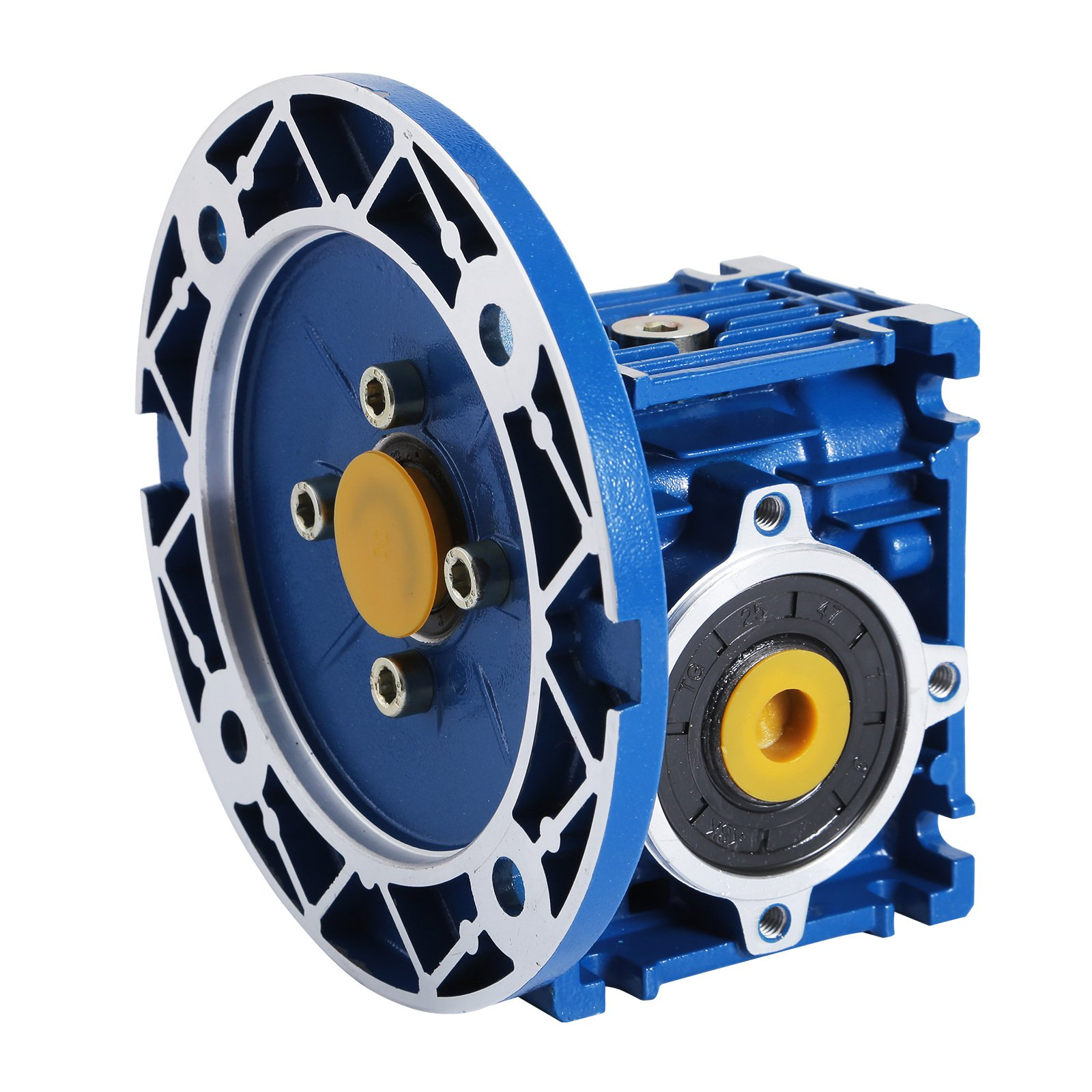 Happybuy Speed Reducer Ratio 15/1 56C Worm Gear Speed Reducer 1750RPM High Torque Worm Gear Reducer Perfect for Electric Door Mini Crane Hoist