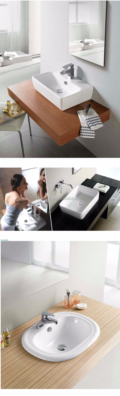 Triangle Ceramic Washing Hand Single Sink White Wash Bowl Bathroom ...