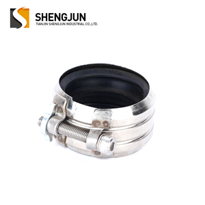 TJSJ best price 1.5 inch pipe clamp with rubber