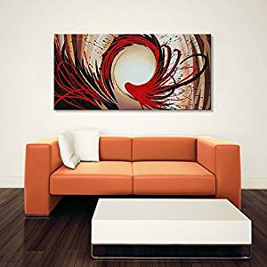 Seekland Art Hand Painted Abstract Oil Painting on Canvas Modern Wall Deco Artwork Framed Ready to Hang Contemporary Picture (Framed 4824 inch)
