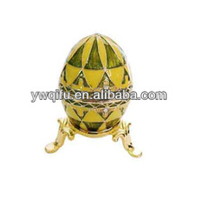 China proveedor <span class=keywords><strong>huevo</strong></span> <span class=keywords><strong>de</strong></span> Pascua metal Jeweled esmalte trinket Box para Pascua/<span class=keywords><strong>huevo</strong></span> Faberge esmalte favor <span class=keywords><strong>de</strong></span> la boda (QF720)