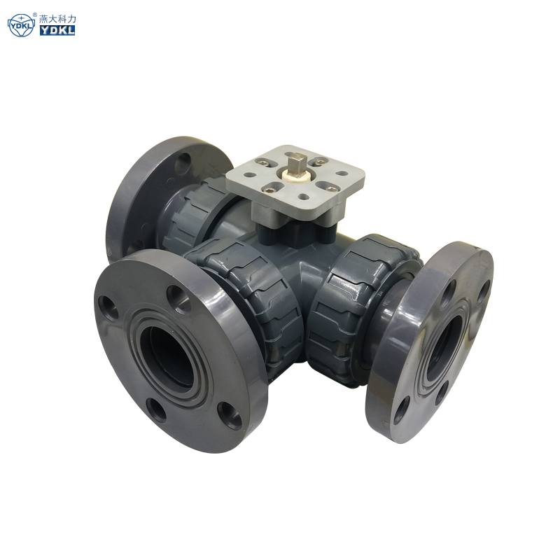High demand Plastic pvc 3 way flange valve