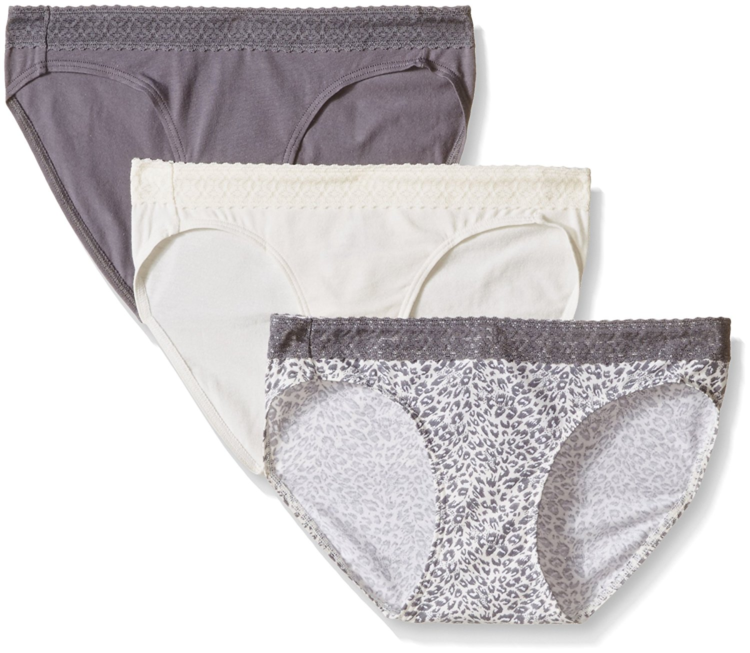 3057caac727 Get Quotations · Hanes Ultimate Women's 3-Pack Cotton Stretch with Lace Bikini  Panties