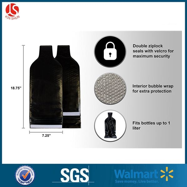 PVC Material Double Bubble Wine Bag,Wine Protector