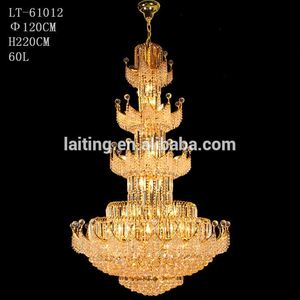 Luxury Empire Lighting Large Crystal Chandeliers for Hotels