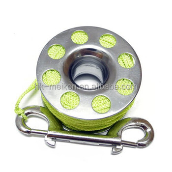Meikon Scuba Water Spool Diving Stainless Steel Finger Reel 30M & 9cm Stainl