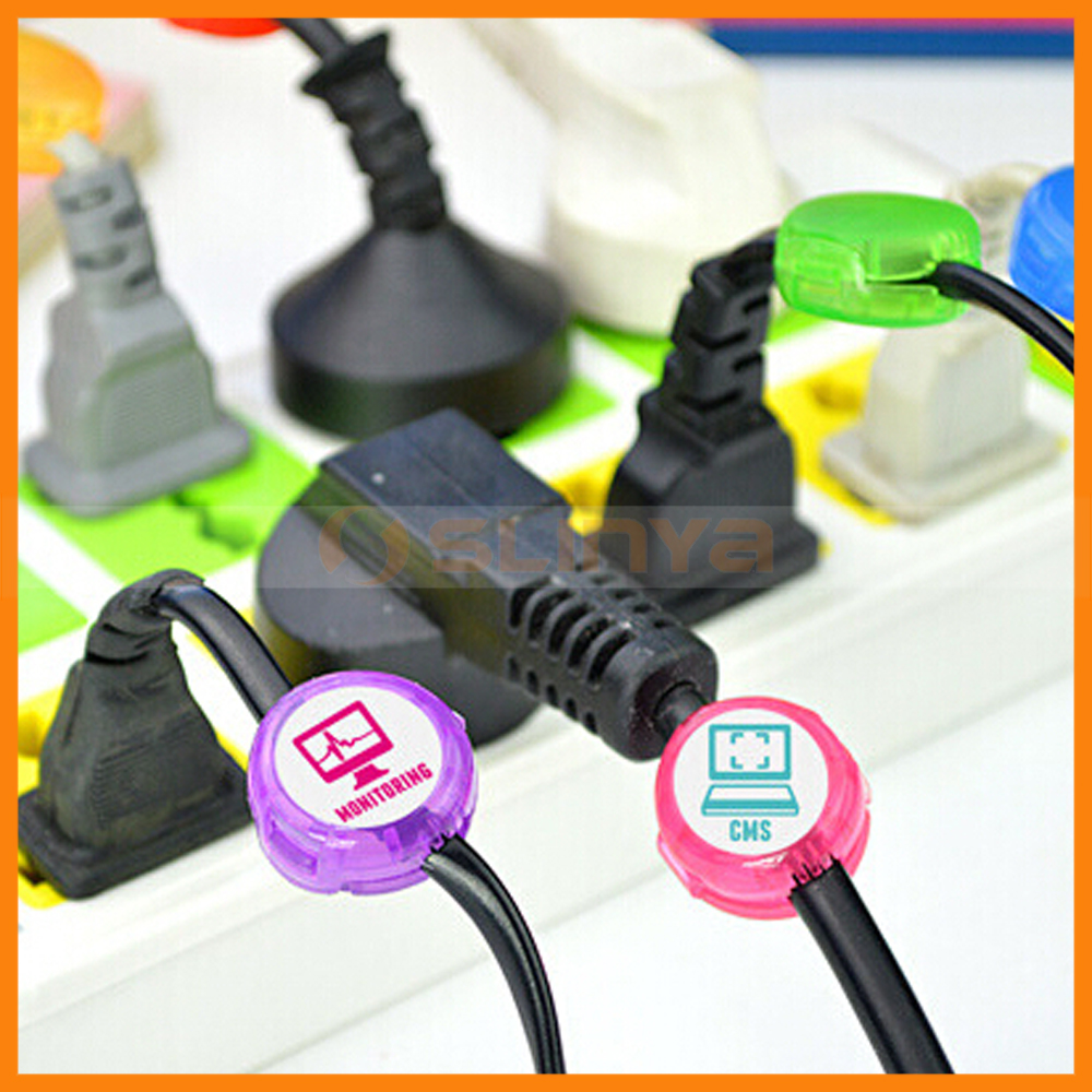 OEM Logo Welcomed Private Label Round Clamp Cable Management Cord Identifier