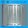 GOOD PRICE 1/4 CIRCLE Shape Clear Toughed Glass SHOWER BOX with Hardware Accessories