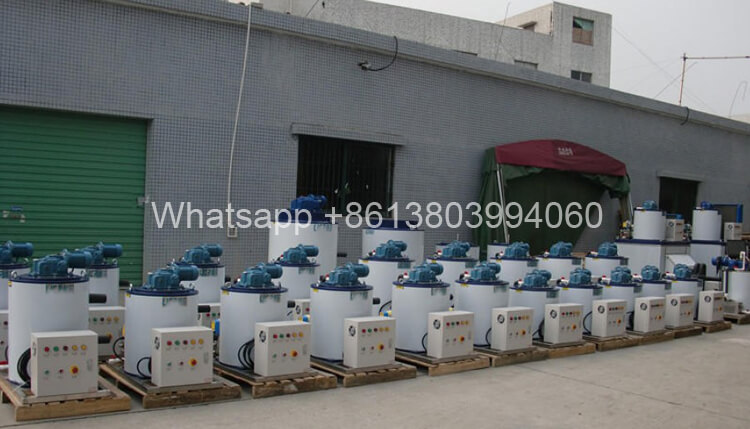 15ton/day Flake Ice Maker Evaporator Industrial Ice Cube Machines For Sale
