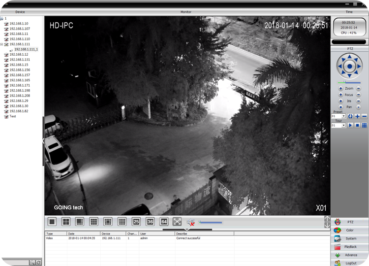 GOING tech security camera system wireless outdoor ip ptz with 1T harddisk