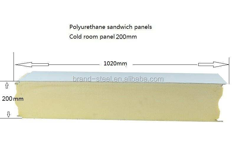 Polyurethane Sandwich Panel : Insulated wall polyurethane foam sandwich panel thailand