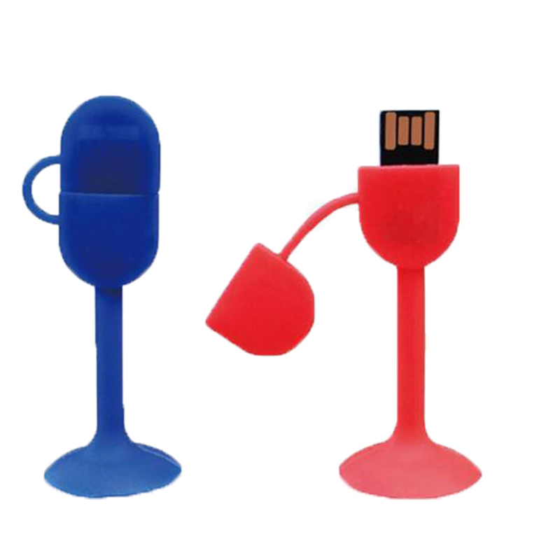 USB stick with production company logo 8gb 16gb in stock silicone Sucker usb flash drive