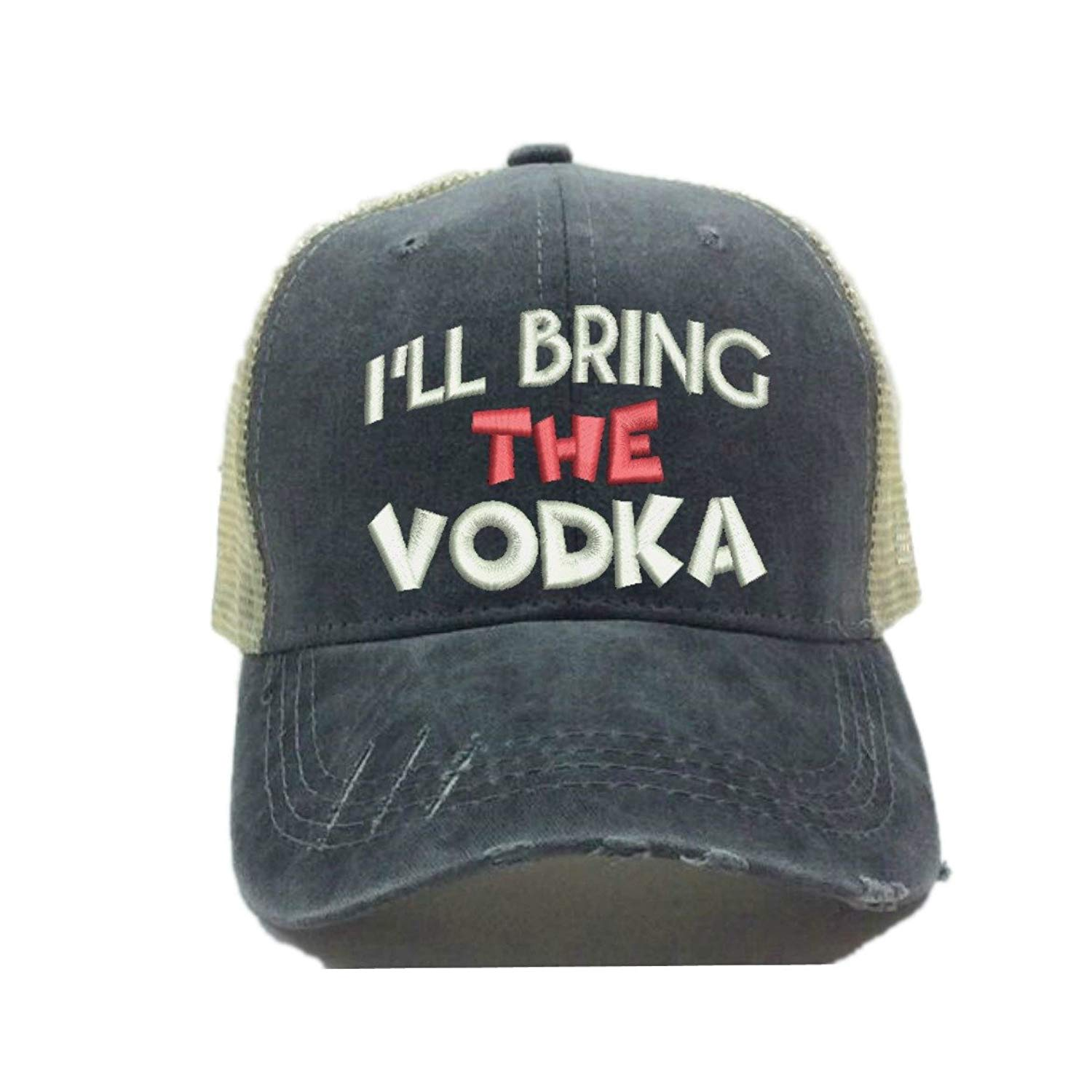 0ee402f4530 Get Quotations · Custom Trucker Hat More Alcohol Custom Distressed Trucker  Party Hat Baseball Cap