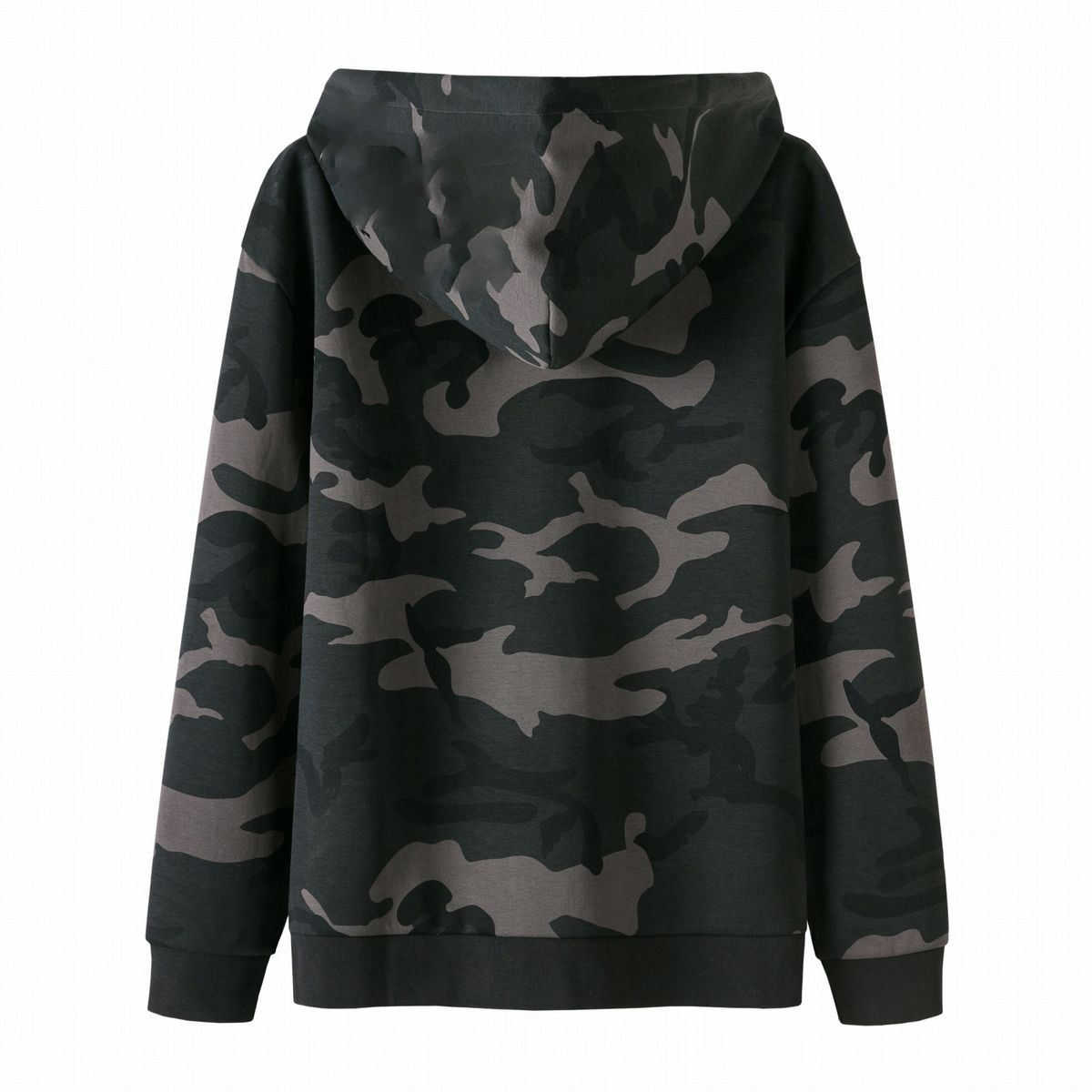 Camouflage Drawstring Hooded Sweater Men's Sweater