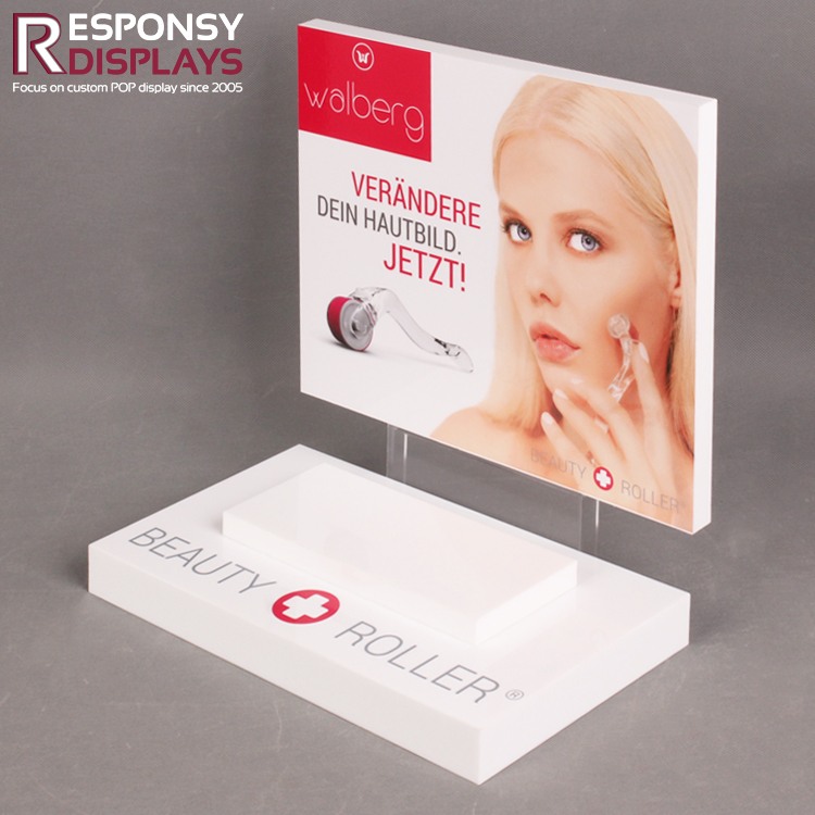 Promotion customized counter acrylic cosmetic <strong>display</strong> for stores and shopping mall