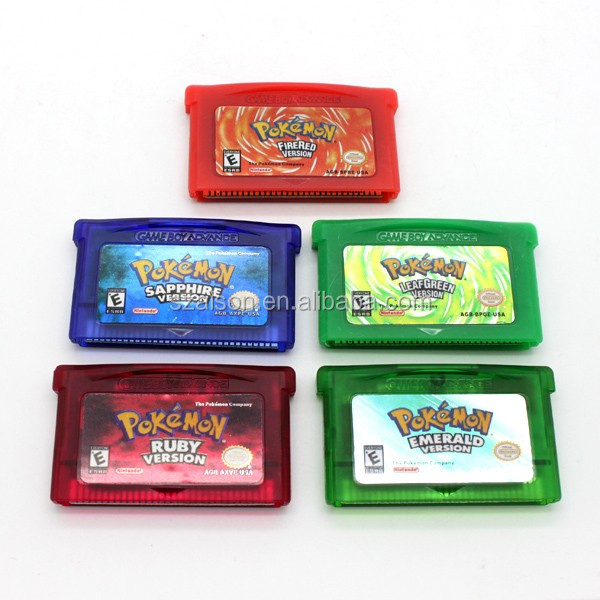 Popular Games for pokeman game cards for Game Boy GBA