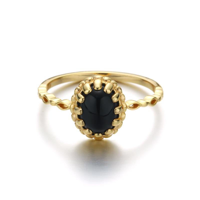 zapatos deportivos eaec6 9ef8a Venta al por mayor anillo de oro con piedra negra-Compre ...