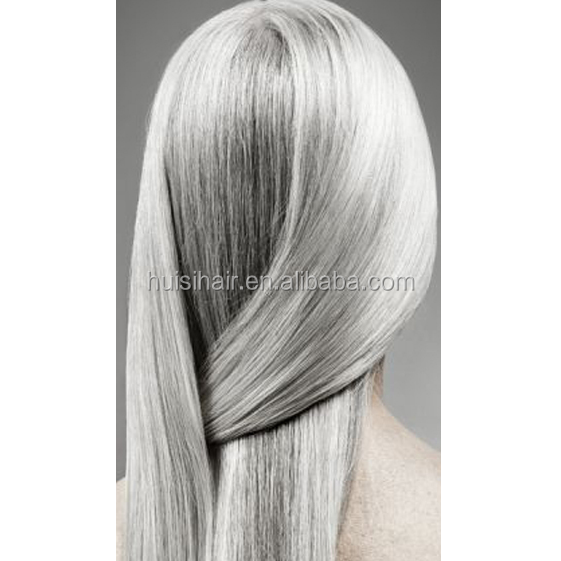 Dropshipping accepted thin fine hair styles pictures wholesale cheap fasion gray human hair