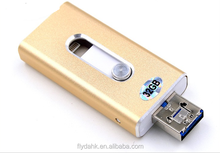 3 in 1 u flash drive 8gb to 128gb for iphone & smartphone usb 2.0 otg u flash drive.