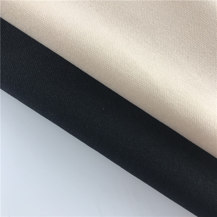 Chinese character 100% polyester interlock lining knitted fabric