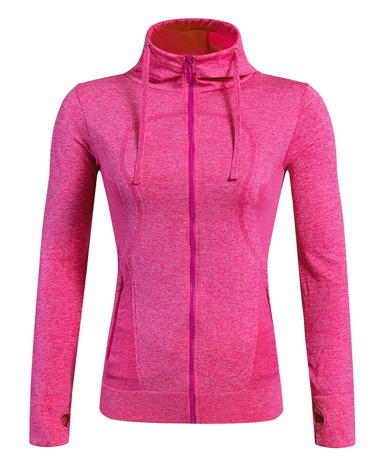 4f22e0828f6 Get Quotations · Selighting Women s Running Sweatshirts Full Zip Hoodie  Yoga Jackets with Thumb Holes