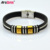 Factory Custom Engraved Brand Leather Bangle With Rhinestone