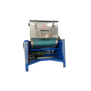 100HP factory high capacity power /feed horizontal mixer ribbon
