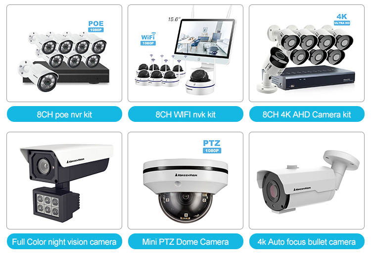 New design infrared night vision surveillance camera ahd/tvi/cvi motorized lens best video 4k camera