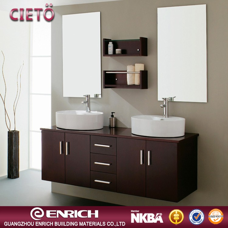 Wall mounted design hotel/home use  bathroom vanity bathroom corner cabinet with mirror