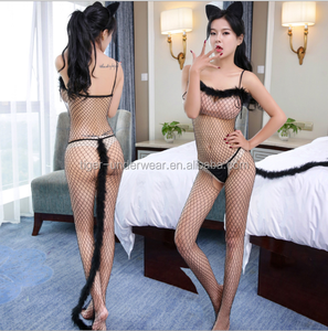 2017 new Sexy Black catsuit seamless Body Stockings Erotic Bodysuit Lingerie Hot