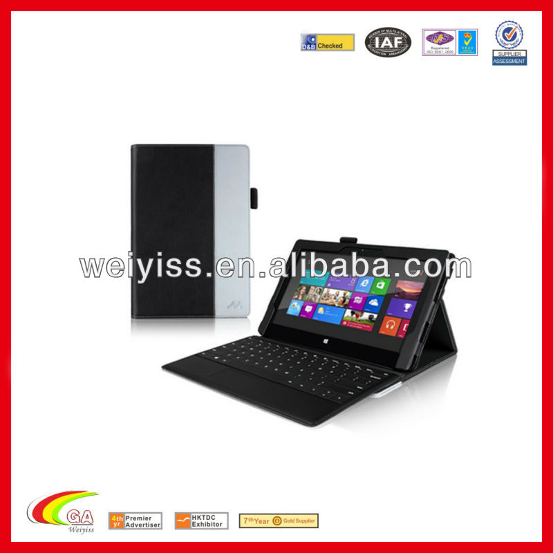 Smart leather case for Microsoft surface Pro tablet Stand, Leather tablet case wholesales & exporters