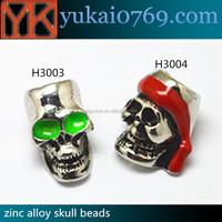 skull bone beads/large beads jewelry making/metal beads