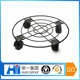 Removable flower pot shelf wire forming flower stand with wheels