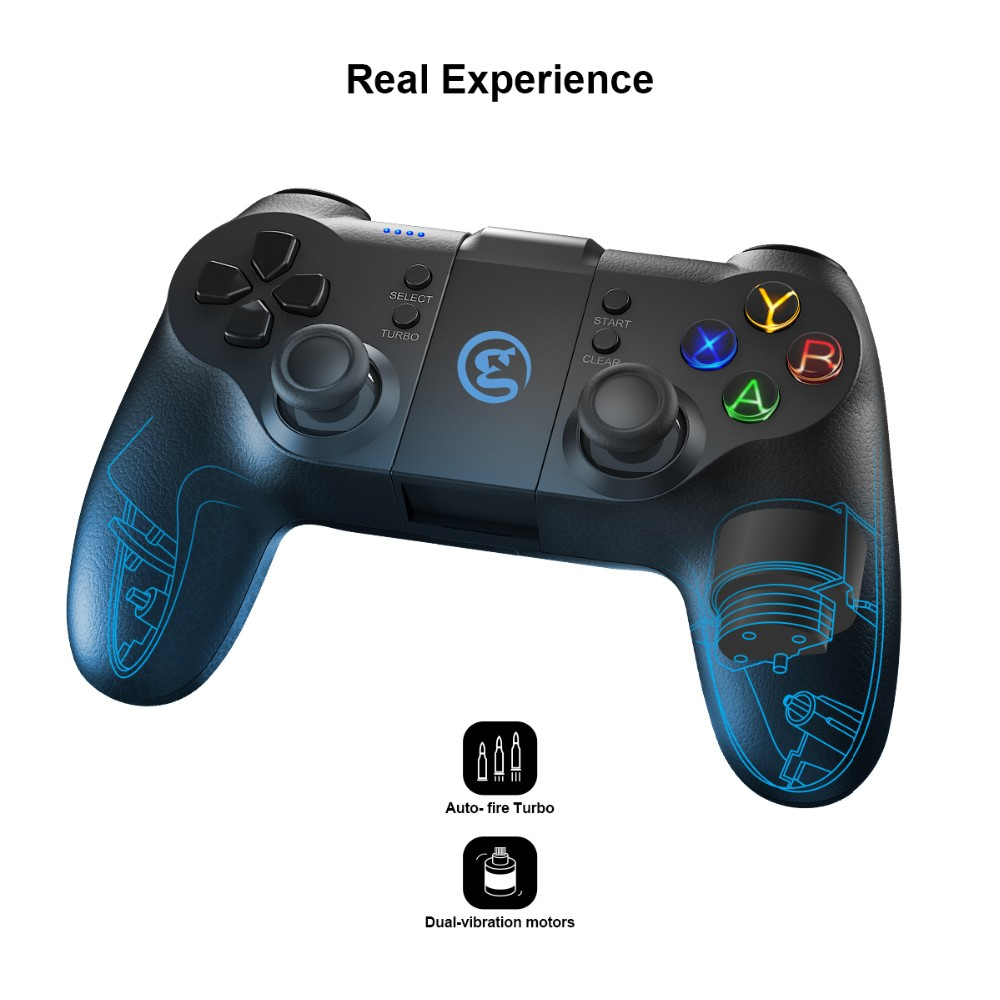 Wholesale wireless gamepad /joystick controller with dual vibration motor for ps3/android/windows