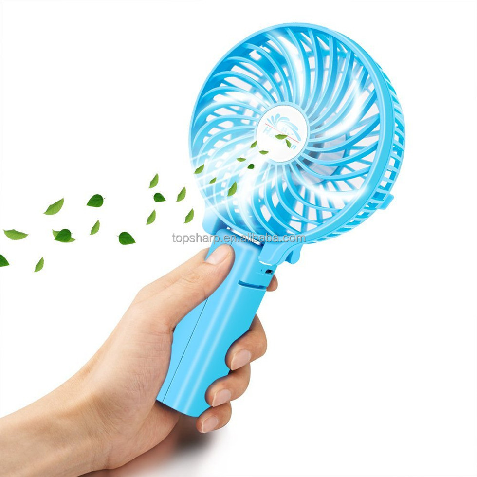 2017 New Branded HF-308 mini electric hand held folding fans for wholesale
