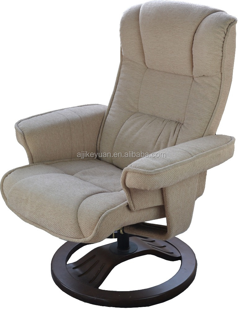 Genuine Leather Recliner Swivel Chair & Footstool/comfortable Massage swivel recliner chair/Swivel Recliner with ottoman