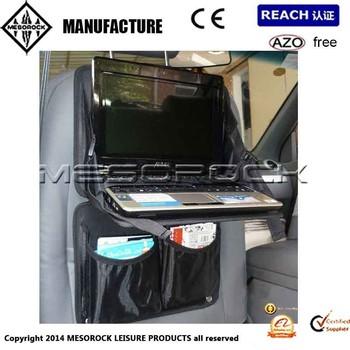 Car Back Seat Organiser Fold Down Laptop Tray Multi Pocket Holder ...