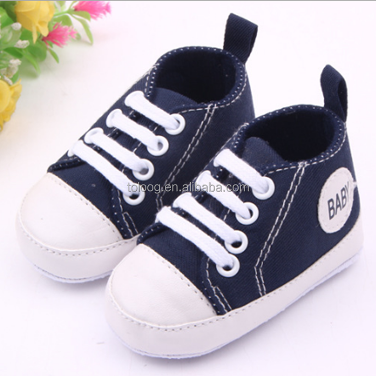 China Wholesale $1 Dollar Toddler Baby Canvas Shoes of Soft Sole