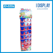 drawing book retail clorful cardboard display stand with compartments for greeting cards