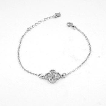 Wholesale [XSL-361] Fashion design 925 silver zircon bracelet ...