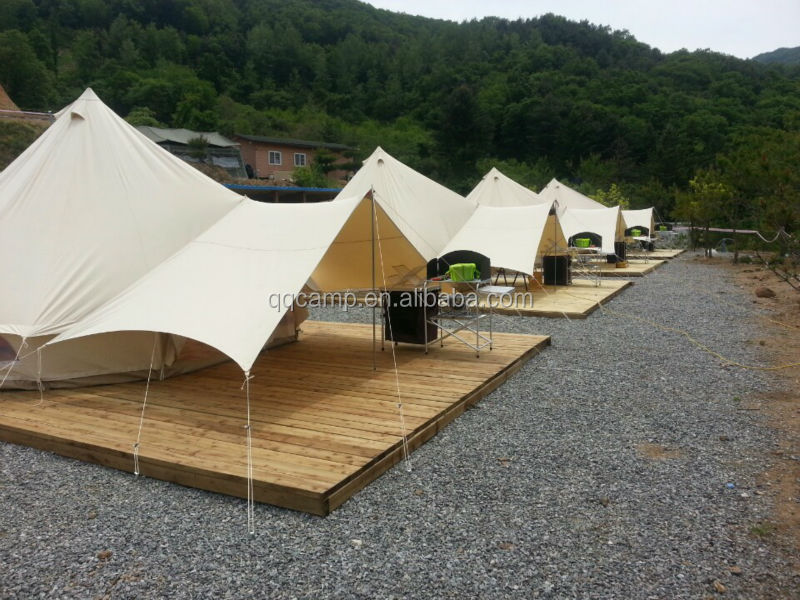 Cotton canvas bell tent for c&ing site and outdoor activity & Cotton Canvas Bell Tent For Camping Site And Outdoor Activity ...